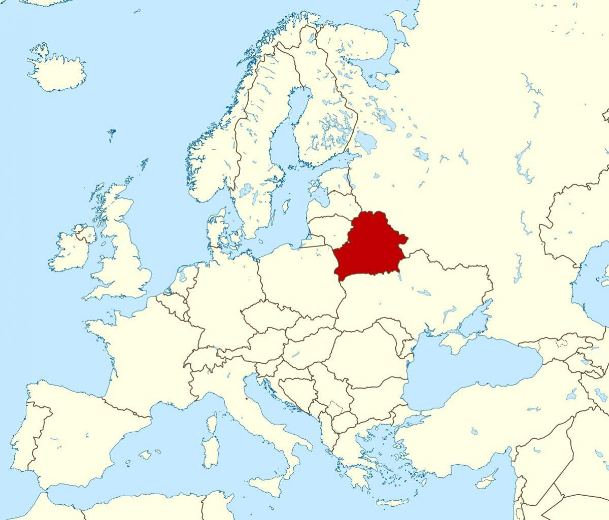 Belarus location on world map