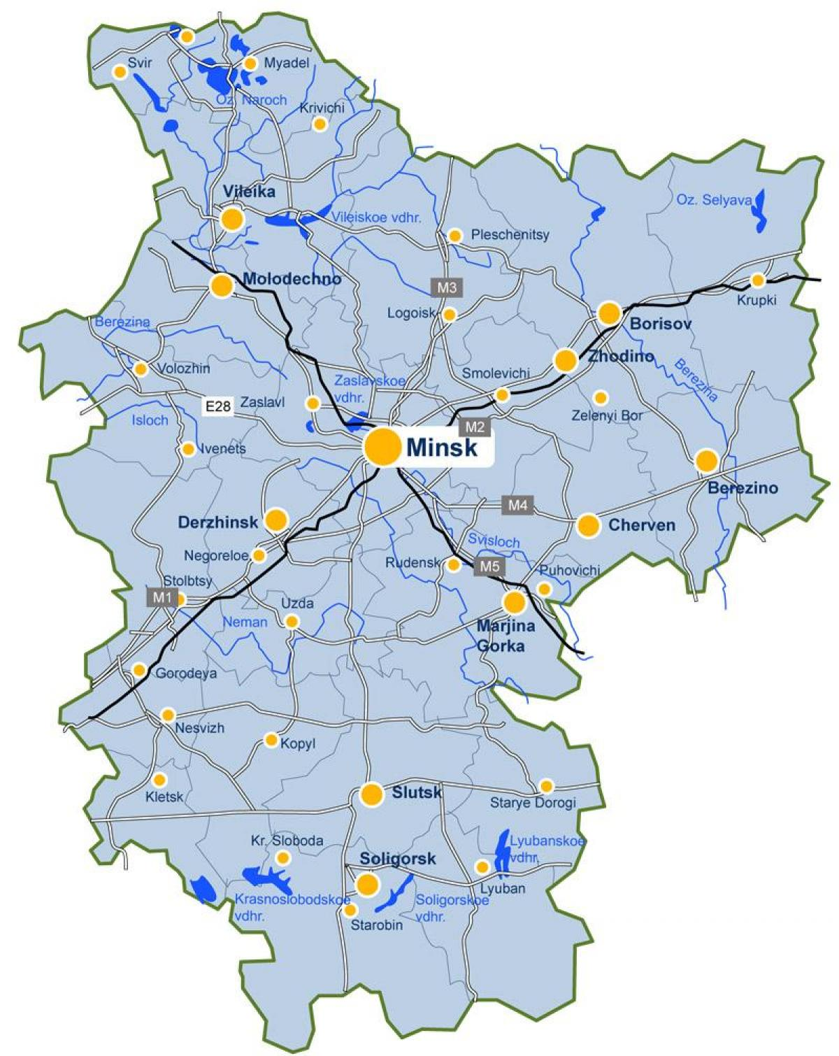 minsk map Belarus