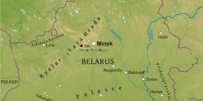 Map of Belarus physical